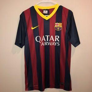 Nike Dri Fit Qatar Airways jersey Striped FCB